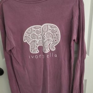 Ivory Ella long sleeve t-shirt sz small